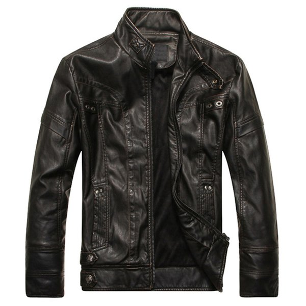 Mens Leather Jackets Classic Motorcycle Bike Cowboy Jacket Autumn Casual Male Velvet Thick Coats Brand Clothing 5XL Dropshipping