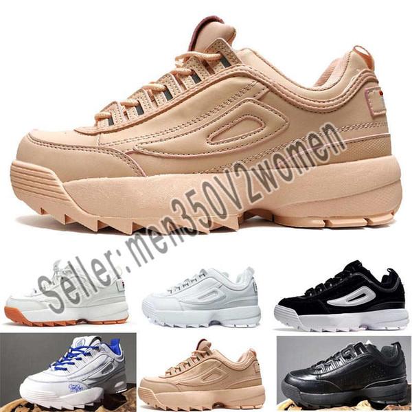 Compre Fila Zapatos Casuales De Moda Interruptores Bajos 2 II Hombres Mujeres Dientes De Sierra Diente Inferior Grueso Zapatos Con Cordones Zapatillas