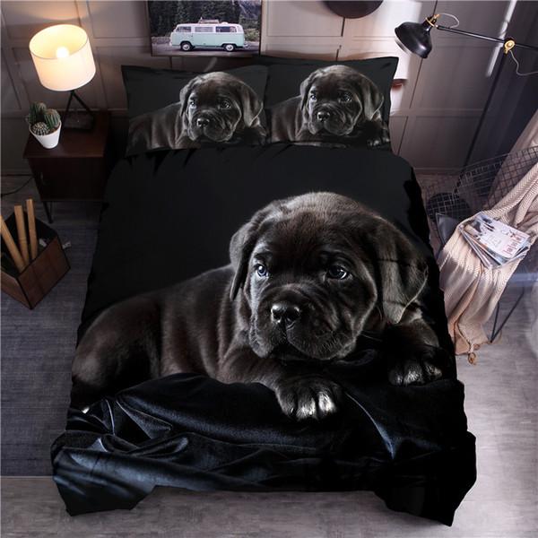 3d animale stampato Bedding Set Cane stampata Copripiumino Set regina re Quilt Cover Lenzuola