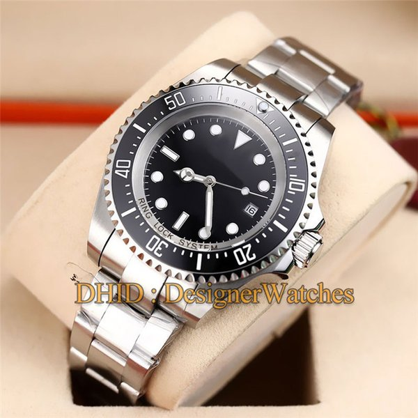 Mens Watches Diver Swim Black Ceramic Bezel reloj de lujo Mechanical Automatic Wristwatches Men Luxury Watch Glide Lock Clasp Strap