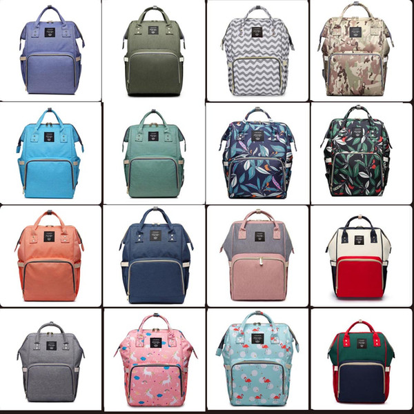 top popular 32 colors Mummy Maternity Nappy Bag Large Capacity Baby Bag Travel Backpack Desiger Nursing Bag for Baby Care Diaper Bags 2021