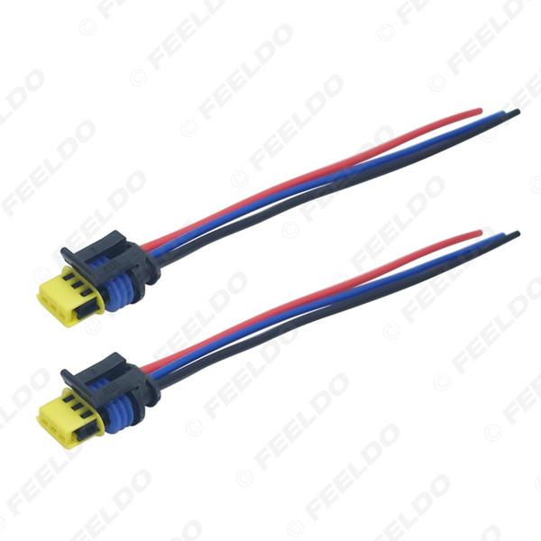 2019 FEELDO Car HID Xenon Bulb Ballast Plug Cable D1 D3 HID Cord Connector on