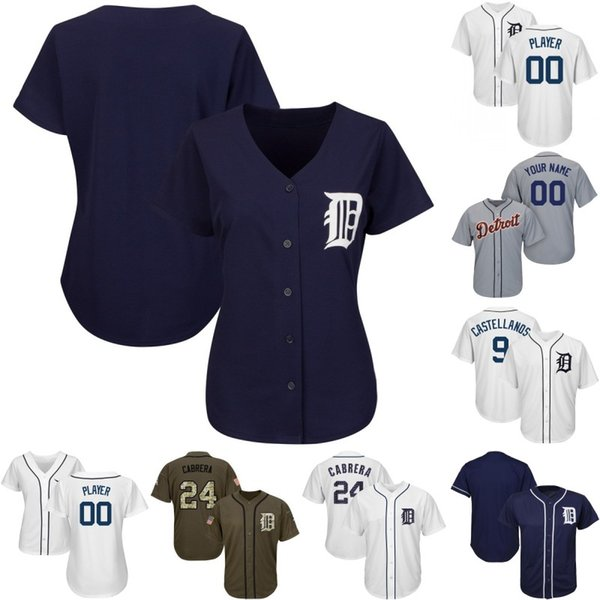 Lady & Youth Detroit Jersey 24 Miguel Cabrera 9 Nick Castellanos 28 Niko Goodrum 17 Grayson Greiner Ronny Rodriguez Tigers Baseball Jerseys