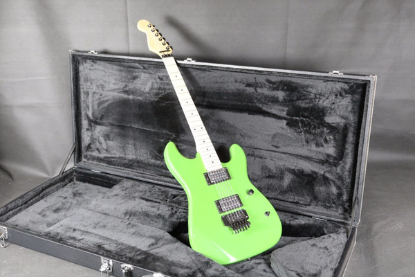 Grüne E-Gitarre Reverse Spindelstock leichte Hand Floyd Rose Bridge Daul Humbucker Pickups Basswood Body