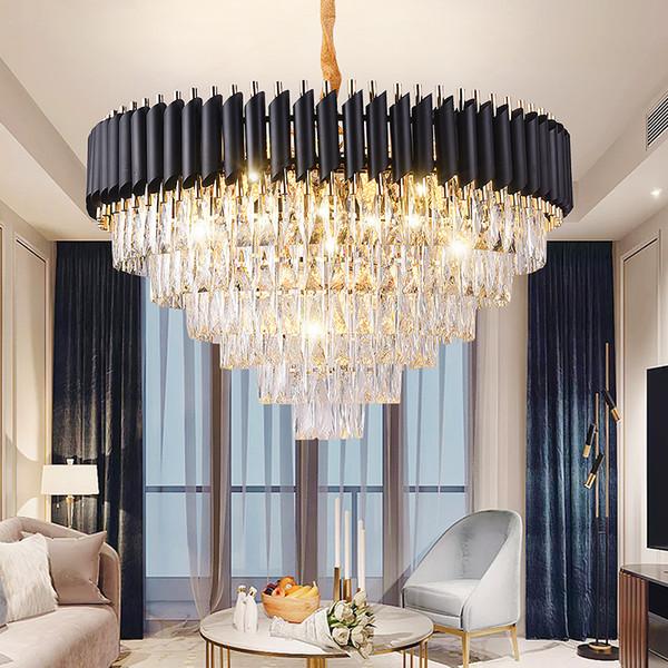 Buena calidad K9 Crystal Chandelier Suspension Lighting Luminaires Lustre colgante para restaurante Crystal estilo americano lámpara