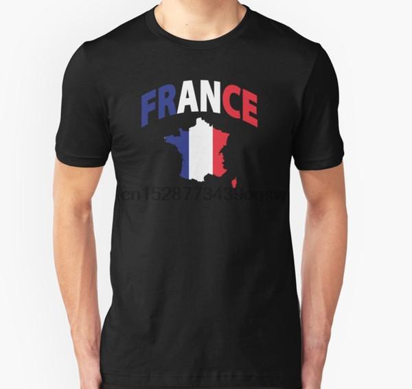 Tee-shirt à manches courtes Drapeau de la France dans la carte française