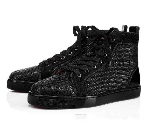 Parfait Nouveaux Hommes Femmes Designer Chaussures Haut Haut Rouge Bas Casual Marche Appartements Chaussures Spikes Party Sneakers Chaussures Discount