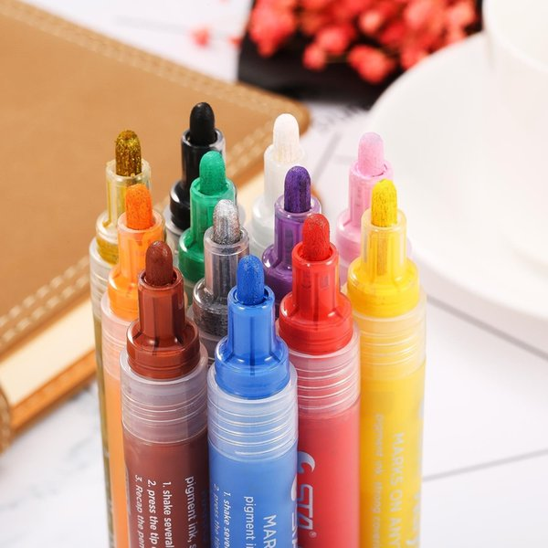2019 Markers Mb Pen Premium Paint Pens For Painting On Rock Glass Canvas Metal Wood Ceramic Easter Egg Diy Craft Projects From Eubcome 130 79