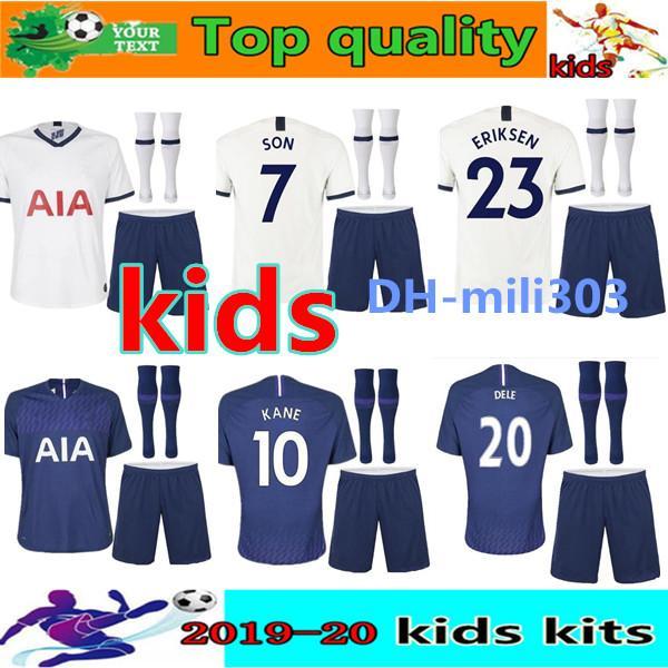 kids kit KANE spurs Soccer Jersey kits 2019 2020 LAMELA ERIKSEN MOUR DELE SON child jesrey 19 20 BOYS Football kit shirt SET uniform