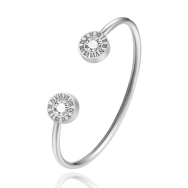 Carta de moda romana del diseño de los brazaletes para las mujeres forman los brazaletes de las pulseras de chicas Mujer linda damas joyería