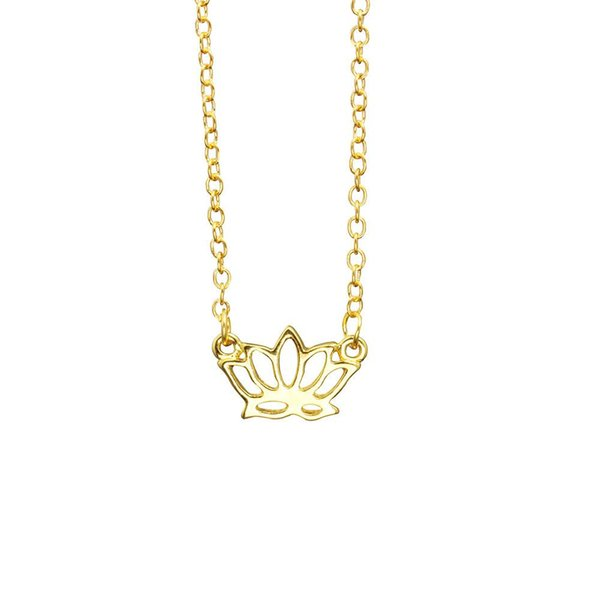 Lotus Necklaces wholesale Handmade Jewelry Cheap Simple Flower Necklace Gift For Women Yoga Pendant Necklace