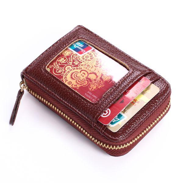 Nuevo Paquete de Tarjeta de Color Unisex 6 de Cuero de LA PU Diseño de Alta Calidad de las mujeres de Moda Casual Pad Pad ID Tarjeta de Crédito Titular de la Tarjeta paquete