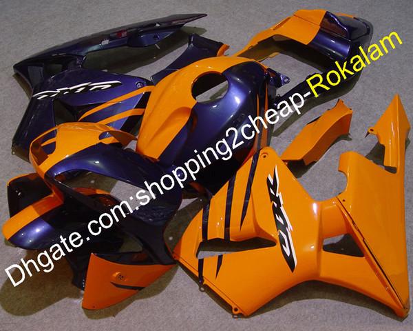 Kit de corpo de moto para Honda CBR600RR F5 2003 2004 CBR 600 RR 03 04 CBR600 600RR conjuntos de carenagem de moto laranja roxo (moldagem por injeção)