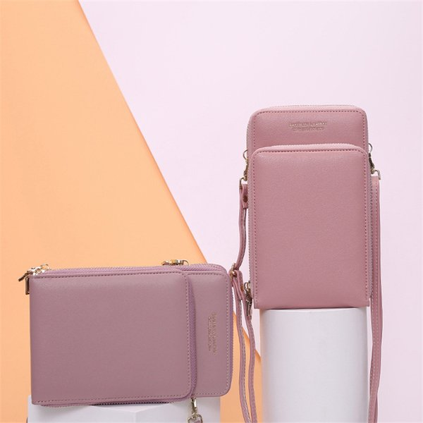 Trend Universal New Sports Wallet Bolsa para teléfono móvil Money Pocket Coin Bag Hombro al aire libre Crossbody Zipper Handbag