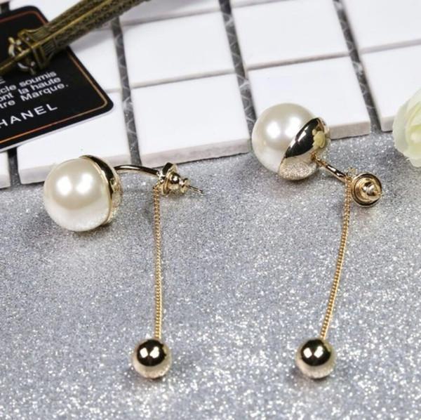 Orecchini per donna orecchini di perle alta tecnologia artigianale 2019 nuova cosa reale è una tendenza moda fata
