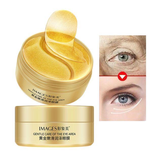 máscara de olho ouro