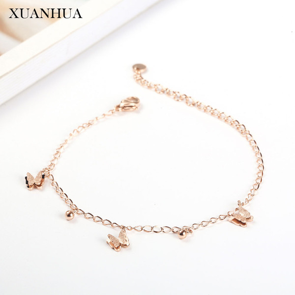 XUANHUA Rose Gold Chain Link Bracelets Bangles Stainless Steel Jewelry For Woman Vogue 2019 Jewelry Accessories Bohemian