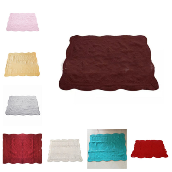 top popular 23color INS Baby Blanket Toddler Embroidered Blankets Infant Ruffle Quilt Swaddling Breathable Air Conditioning Cushion T2I5179 2019