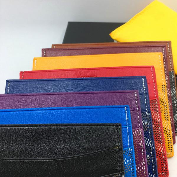 2019 GITMEK Kadın Ince malesharbes cad tutucu deri cüzdan İş Erkekler Banka kredi kartı otobüs kartı paketi ile kutu KIMLIK Kartı Vaka Para Cebi