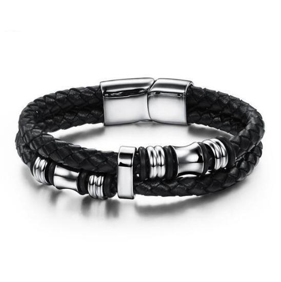 Novos homens pulseira europeia e americana moda coringa pulseira personalidade pulseira de couro pulseiras s