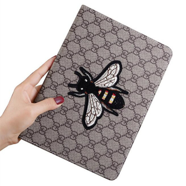 Fashion show Bee Hand embroidery shockproof iPad case for iPad mini 1234 ipad pro 9.7 10.5 Air 2 Tablet PC Stand Leather Case shell