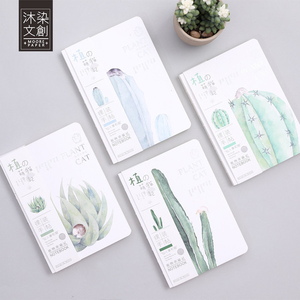 Sketchbook Drawing School Notebook Paper Creative Plant Cactus Cat Diary Notepad Sketch Book Office School Supplies Gift