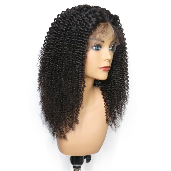 Curly Wig Human Hair Kinky Curly Full Wigs with bangs in stock Human Hair Lace Front Wigs Full Lace Wig