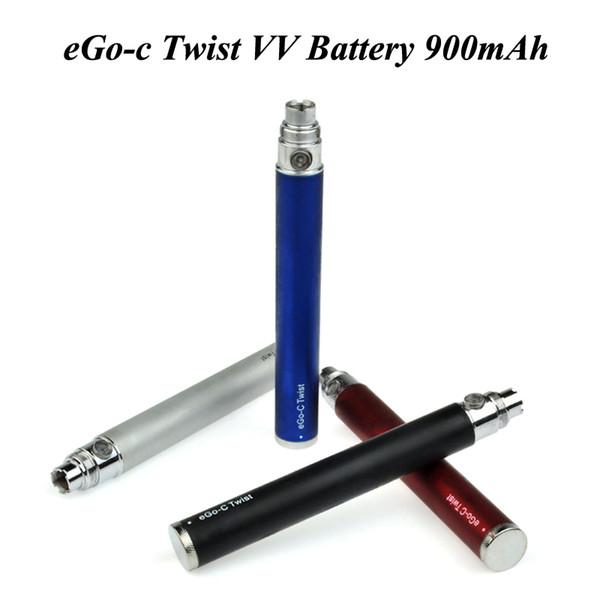 2018 In Stock eGo-C Twist Battery 900mAh Preheat VV Adjustable Voltage Ego Battery 510 thread vape pen battery for all 510 cartridges