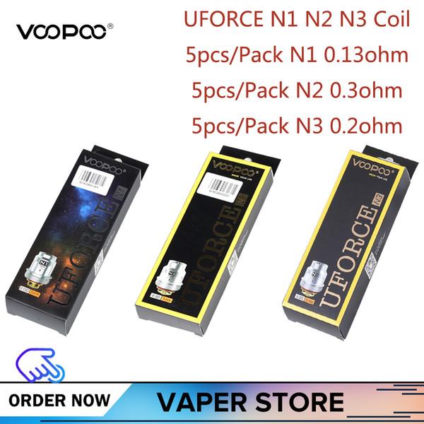 5-10 unids VOOPOO Uforce N1 N2 N3 Bobina de repuesto para Voopoo Uforce Tank Drag 2 KIT Drag mini KIT Versión de platino