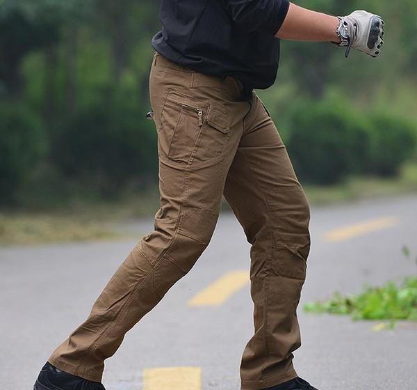 Calças IX9 Cidade Tactical Carga Homens combate SWAT militar do exército calças de algodão muitos bolsos estiramento Man flexível Casual f0129 Calças XXL