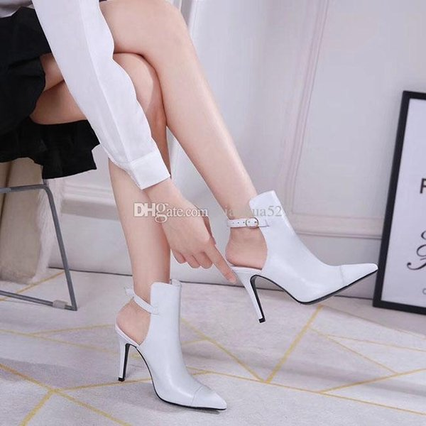 5-colour pointed boots New semi-naked boots European and American temperament Fine heel and high heel 9CM fashion boots Sexy night club pum