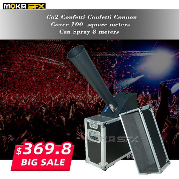 top popular Flight Case Packing Co2 Confetti cannon machine Stage Special Effect hand control co2 blaster with Gas Pipe 2021