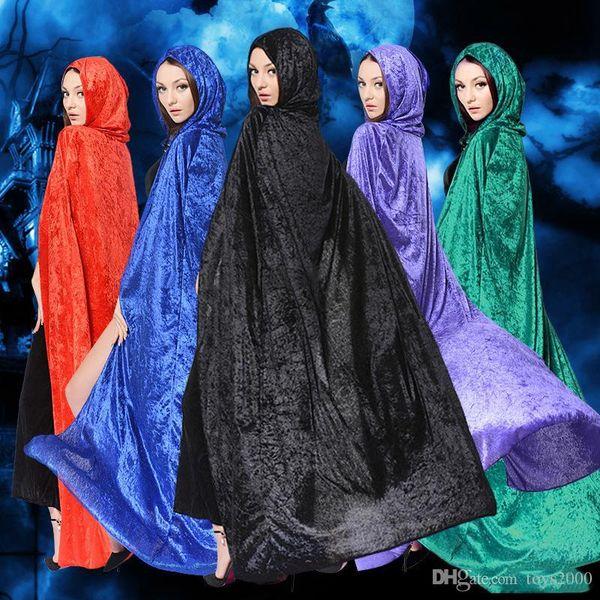 Cape de mort du sorcier Costumes d'Halloween Costume d'Halloween Cosplay Théâtre Prop Cape à capuchon Cape du diable Manteau Adulte et enfants Cape à capuchon
