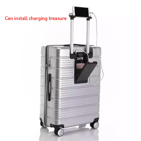 LeTrend Multifunzione USB Ricarica Rolling Luggage Spinner Password Trolley 24/28 pollici Valigia Ruote Donne Cabin Travel Bag