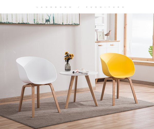 Hot Modern simple personality Fashion assembling coffee chair dining chair leisure Wood Plastic chair Bar Stool living room frunture