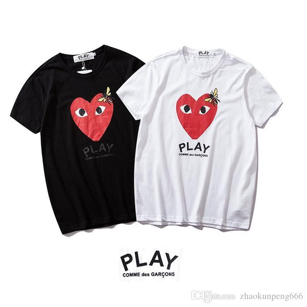 2019 new men and women with the same paragraph S2147 love short-sleeved T-shirt cotton short-sleeved with wash water standard S-XL