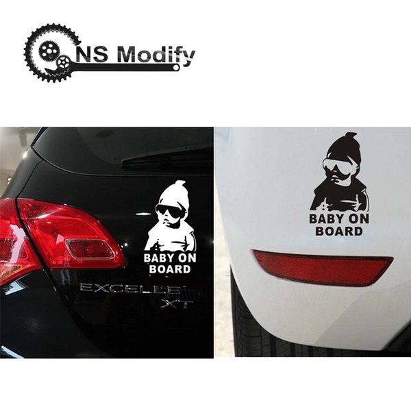 NS Modify Car Sticker Cool Baby On Board Motorcycle Sticker Sunglasses Child Decal Reflective Personalized Waterproof