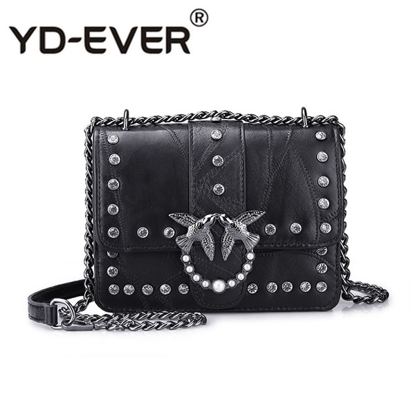 New Fashion Crossbody Bag for Women Messenger Bags Luxury Chains Flap Bag Diamond Swallow Girls Ladies Shoulder Designer Handbag