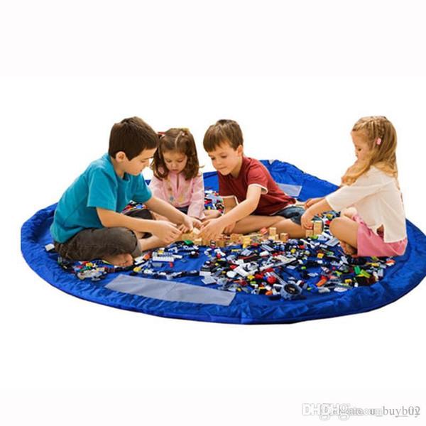 1.5M Portable Kids Toys Storage Bag and Play Mat LegoToys Finishing Home Organizer Bin Box Fashion Practical Storage Bags highcapacity