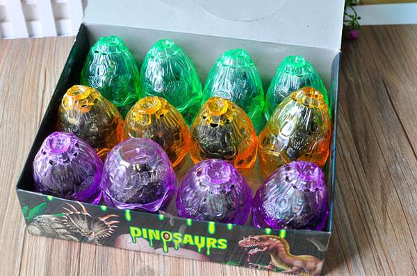[ÜST] 12 adet / takım Jurassic dünya Hatch renkli dinozor yumurta ve dinozorlar 12 çeşit Rakamlar T-Rex modeli bebek oyuncak hediye