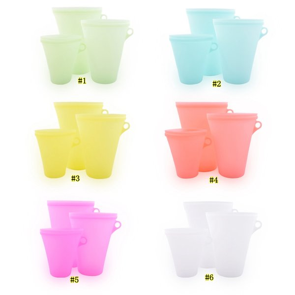 Silicone Food Bags Fresh Bag Kitchen Tools Reusable Storage Fruit Vegetable Household Stand Up Zip Container MMA2464-1