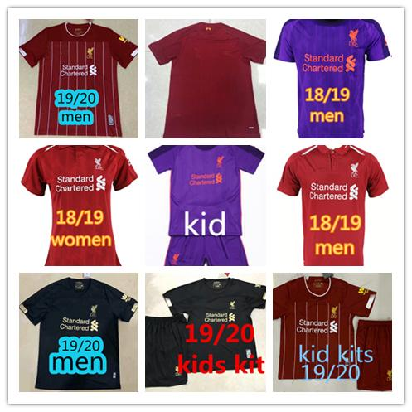 separation shoes 53086 1acbc 2019 2019 2020 Liverpool Soccer Jersey FIRMINO VIRGIL 18/19 Football Shirt  Camiseta Man Women Fútbol ROBERTSON Camisa Kids Kits LALLANA Maillot From  ...