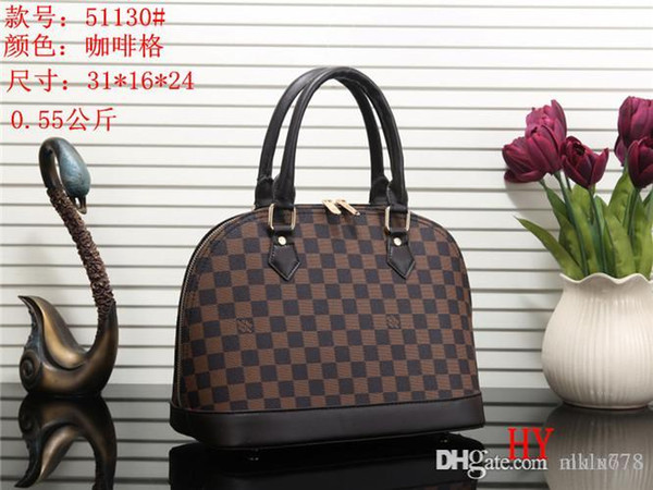 2018 styles Handbag Famous Designer Brand Name Fashion Leather Handbags Women Tote Shoulder Bags Lady Leather Handbags Bags purse51130