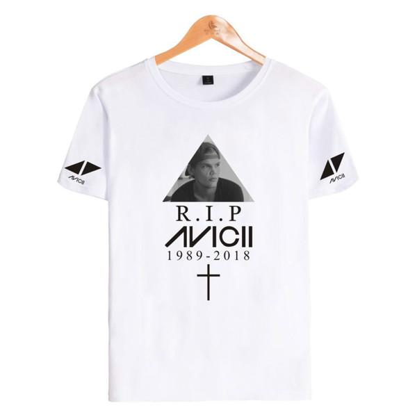 Lässige Designer Kurzarm T-Shirt Begabte Sängerin DJ Avicii Muster 65% Baumwolle Dünnes Material T-Shirt Nachsicht Sommermode Freizeitkleidung