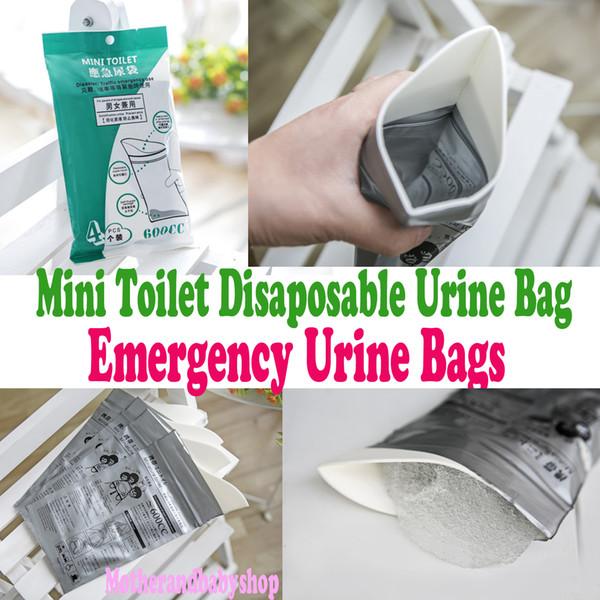 Mini Toilet Disaposable Urine Bag 4pcs/Packing Bag Emergency Urine Bag Car Mobile Toilets Portable Urine Bags Car Emergency Urinal Bags