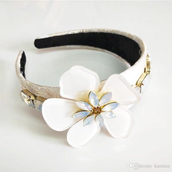 New Limited Edition Baroque Multicolor Flowers Crown Handmade Tiara Crystal Wide Headbands Wedding Hair Jewelry Gift For Women