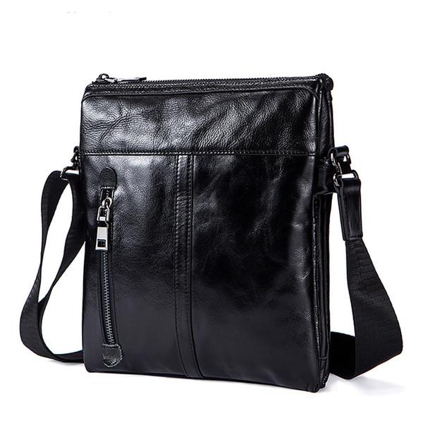 Messenger Bag Mens Genuine Leather shoulder bag for men leather fashion Small Flap male Crossbody Bags handbags 1023