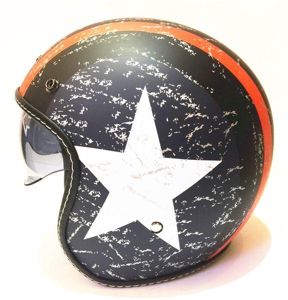 Russian haley half-helmet free shipping 2019 motorcycle helmet retro vintage motocross helmet 3/4 open face scooter helmets G