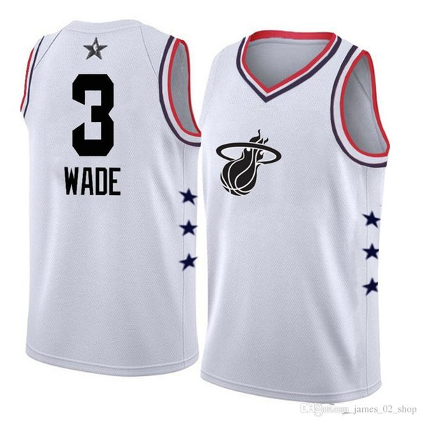 new styles 9ad27 67e76 2019 2016 Miami Stitched 2019 New Style Dwyane Wade Jersey Black White Red  Pink Blue Color Basketball Shirts Dwyane 3 Wade Heat All Star Jerseys From  ...
