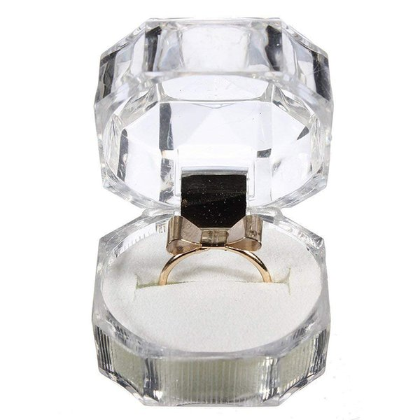 Crystal Ring Box Transparent Acrylic Necklace Jewelry Gift Display Storage Case Box 20 Pcs Per Set